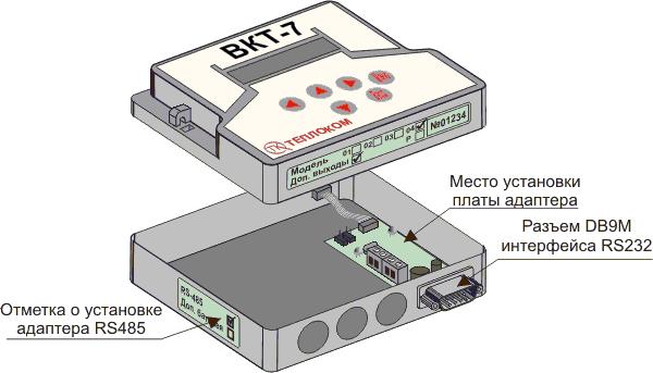 Подключение теплосчетчика ТСК7