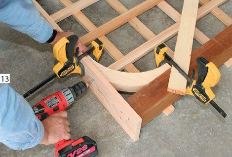Деревянная арка своими руками пошаговая инструкция