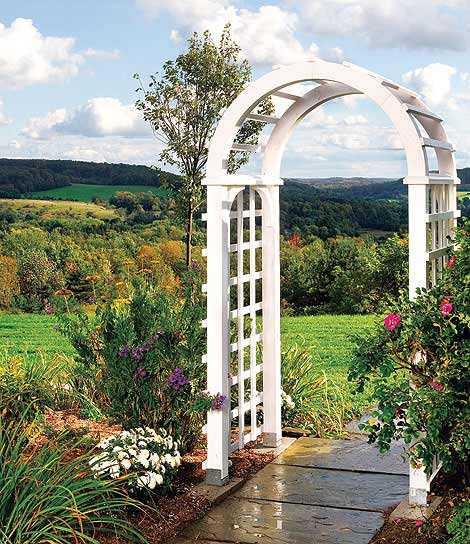 Садовая арка своими руками - фото