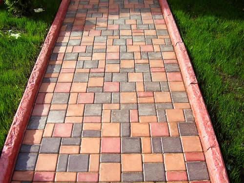 дорожные элементы - плитка садовая