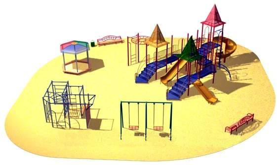 План спортивный игровой площадки