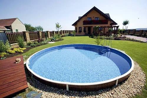 место для установки каркасного бассейна