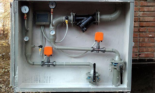 Теплосчетчик ТСК7 после года эксплуатации - установлен на границе раздела, производства ООО Энергостром