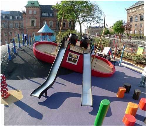 Необычные детские площадки, приближенные к природе - фото.