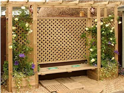 Строительство деревянной перголы для сада своими руками.