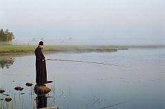 Рыболов любитель, отдых на природе.