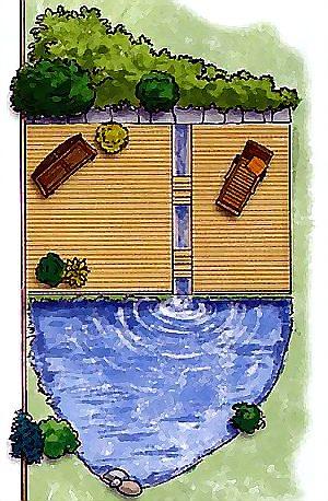 эскиз пруда