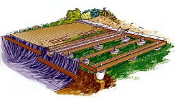Как самому сделать декоративный водоем-пруд и ручей с террасой.