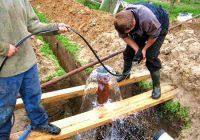 Как самому сделать скважину на даче, глубина бурения скважины