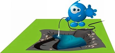 Строим плёночный пруд своими руками - форма пруда