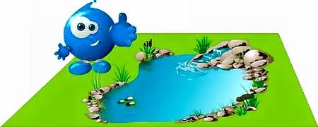 Строим плёночный пруд своими руками - готовый пруд