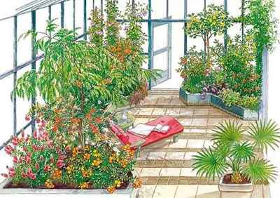 дизайн проект зимнего сада в квартире - фото