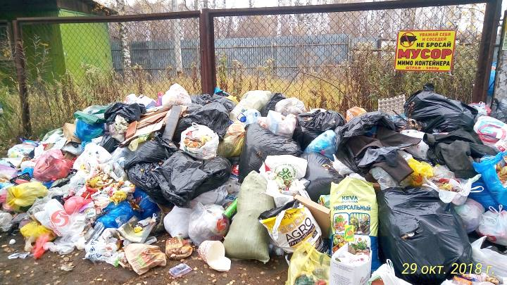 Оборудование площадки для сбора мусора