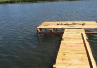 Как сделать пирс на озере своими руками